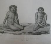 NOUVELLE-HOLLANDE, PORT JACKSON – SAUVAGES DES MONTAGNES-BLUES – Louis de Freycinet – Atlas Historique 1822