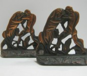 Gladiator & Lion – Bookends c1930