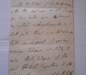 Signed Manuscript Letter from Lord Hobart to Granville Penn (undated but most likely 1803 the Year Hobart Tasmania Was Named After Him)