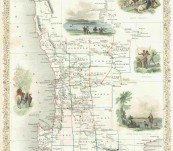 Map of Western Australia – Swan River – 1851  John Tallis