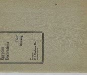 Masonic Item – Explanatory of the Decorations of the Egyptian Room in the Royal Arch Temple (Sydney) – Woodhouse 1927