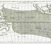 Map of the Pacific Ocean – 1747 Cartographer – Bellin