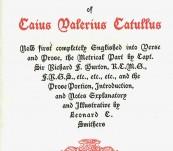 The Carmina of Caius Valerius Catullus – 1894  Richard Burton