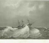 La Favorite – Au Mouillage Durant la Colla de Manille – Lauvergne – 1835