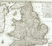 Map of England – Tirion – 1730
