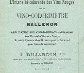 French Wine – The Science of the Examination of Red Wine Colour – by J. Dujardin – 1902