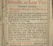Almanack for 1757 – Merlinus Anglicus Junior Or, The Starry Messenger By Henry Colley