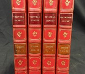 Fine Bindings  – The Novels of Laurence Sterne in Four Volumes – Fine Bayntun of Bath Bindings