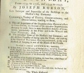 An Account of Six Years Residence in Hudson's-Bay – Joseph Robson – First Edition 1752