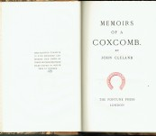 Memoirs of a Coxcomb – John Cleland – Numbered Limited Hand-Made Paper – 1926