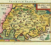 Map of Franciae Insula – Ortelius/ Vrients – 1601 (The Parisian Region of France)