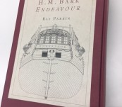 H.M. Bark Endeavour – Ray Parkin – First Edition Boxed Set of Journals and Numerous Large Folding Plans of the Ship