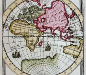 "Eastern Hemisphere – ""Ancien Continent"" – Allain Manesson Mallet -1683"
