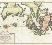Map of Ningbo Zhejiang China – Bellin after Thornton -1746