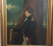 The Proud Admiral – 19th Century Oil on Board