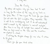 Amusing Manuscript Letter – William Anderson – Author of The Green Man