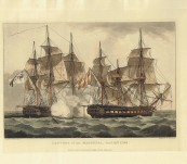 Capture of the Mahonesa – Original Hand Coloured Aquatint – Whitcombe 1816