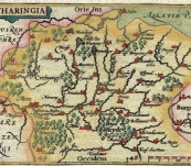 The Region of Lorraine (Lotharingia) France – Petrus Bertius – Published 1603