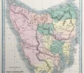 Map of Tasmania or Van Dieman's Land – Dower 1849