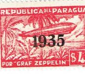Graf Zeppelin Stamp Set – Paraguay 1935