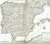 Map of Spain and Portugal – Isaak Tirion – 1730