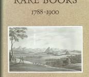 Australian Rare Books 1788-1900 – Jonathan Wantrup.