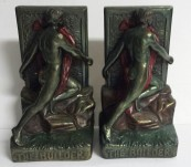 Builder Bookends – Armor Bronze – c1925