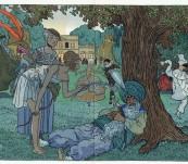 Les Travestis Dans Le Parc – Gazette du Bon Ton Pochoir – Brissaud 1913