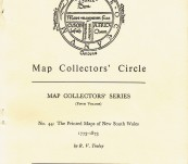The Printed Maps of New South Wales (1773-1873) – R.V.Tooley 1968