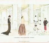 A Biarritz – Chez Madame Vionette – Gazette du Bon Ton Pochoir  – Thayaht – 1924