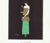 Le Lys Rouge – Gazette du Bon Ton Pochoir – Simone Puget -1914