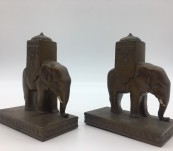 Howdah Elephant Bookends by Aronson 1923