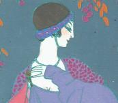Au Clair de la Lune – Gazette du Bon Ton Pochoir – Georges Lepape – 1913