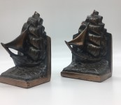 "Vintage ""Clipper on the High Seas"" Bookends"