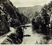 Original Photograph My Lyell Railway King River Gorge – Tasmania