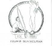Original Norman Lindsay Bookplate  –  Ex Libris Colin B Berckelman