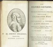 The Oxford Sausage –  Anonymous but Thomas Warton  – 1777