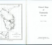 The Printed Maps of Tasmania 1642-1900 – R.V. Tooley – Strictly Limited Edition