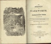 The Hermit of Warkworth – Catnach Press Alnwick Northumberland – Thomas Percy 1806 – Special Provenance