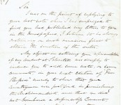 Manuscript Letter (A Complaint) from Sir Erasmus Ommanney (First to Find Evidence of Franklin) to Hepworth Dixon (Notable Literary Identity) – 14th May 1870