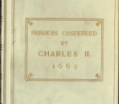 Honours Conferred by Charles II (A Catalogue of Nobility) – First Edition 1662