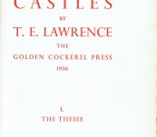Crusader Castles by T.E. Lawrence (Volume I – The Thesis and Volume II – The Letters) – First Limited Edition – Golden Cockerel 1936