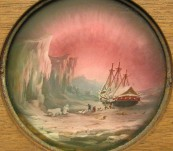 19thC Magic Lantern Slide – Aurora Borealis