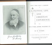 More than Half a Century of Colonial Life (South Australia) – Henry Hussey