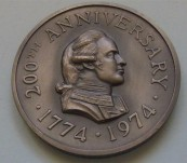 The Discovery of Norfolk Island – James Cook – 1774  Anniversary Medal 1974