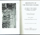 Argonauts of the Western Pacific – Bronislaw Malinowski. Professor Brian J. Egloff's copy.
