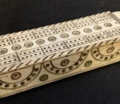 Cribbage Board – Hand Carved Bone – Circa 1810