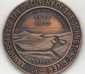 Medal in Celebration of the Discovery of the Johnstone River, Queensland in 1873.
