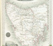 Decorative Map of Van Diemen's Island or Tasmania – Circa 1851 – by John Tallis