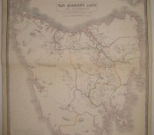 Map of Van Diemen's Land or Tasmania – A.K. Johnston FRGS – 1844